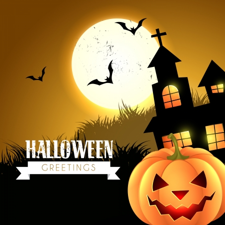 halloween greeting design vector illustration Vector