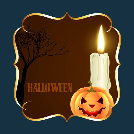 beautiful vector halloween illustration with space for your text Vector