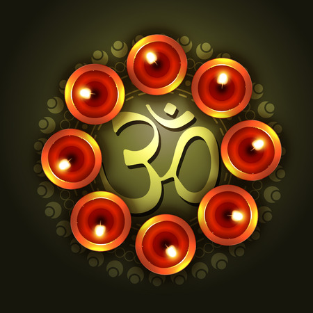 om symbol: vector diwali design with om symbol
