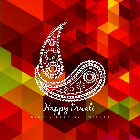 diwali celebration: creative style vector diya design