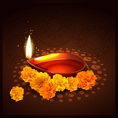beautiful indian festival of diwali Vector