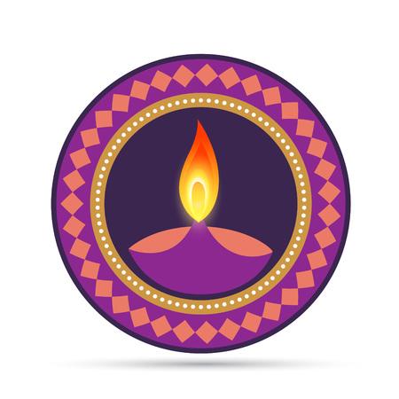 aum: hindu diwali festival vector design