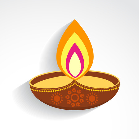 diya: creative colorful vector diwali festival diya design Illustration
