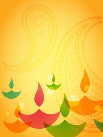 beautiful colorful diwali background design