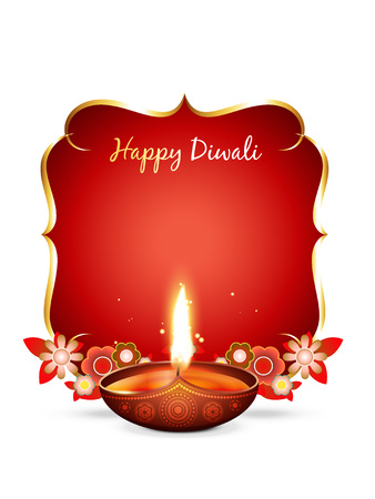 vector diwali greeting with space for your text Vector