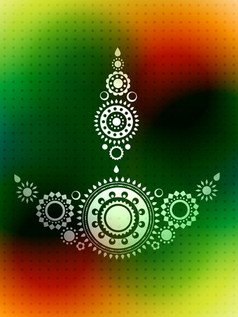 vector creative diwali greeting background