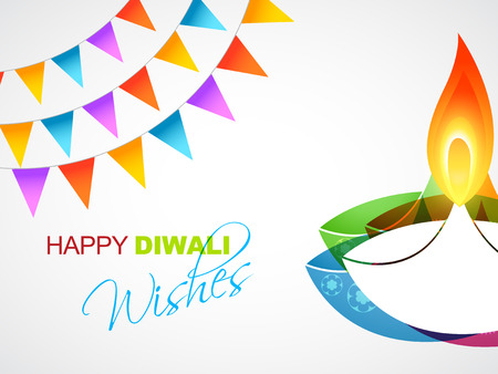 deepawali: happy diwali vector design background