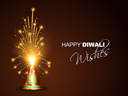 deepawali: diwali greeting with space for your text Illustration