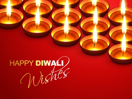 happy diwali wishes greeting design Vector