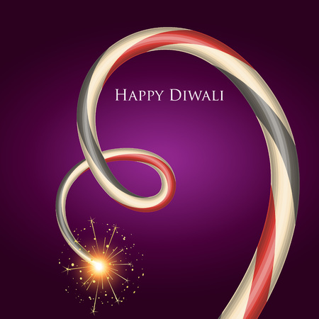 diwali festival crackers design art Vector