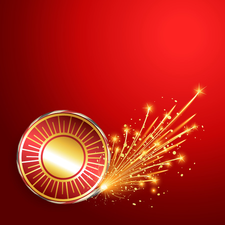 happy diwali burning crackers background Vector