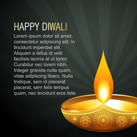 beautiful diwali background with space for your text Vector