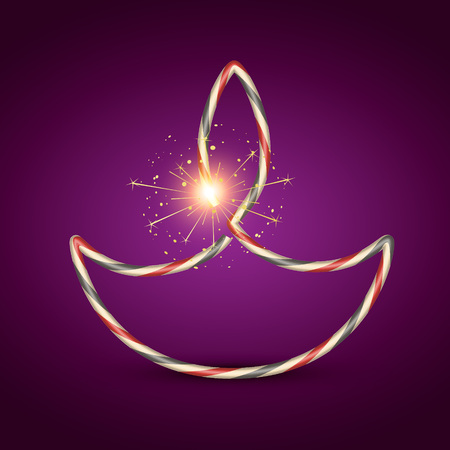 creative vector diwali diya design Vector