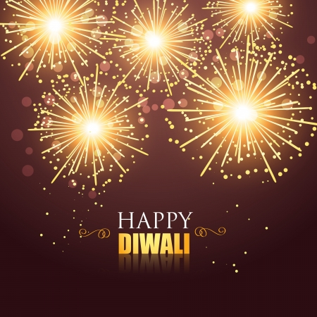 beautiful glowing happy diwali firework Stock Vector - 22817767