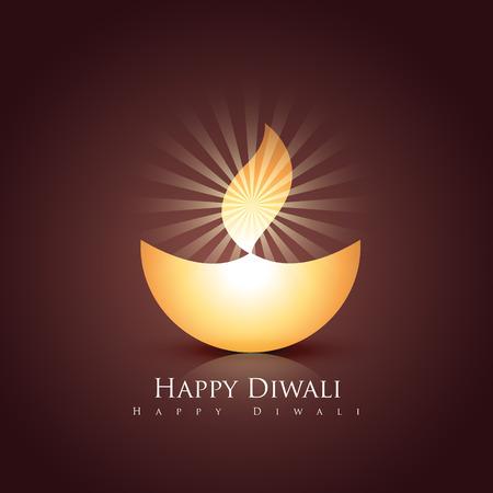 beautiful stylish vector happy diwali design Illustration