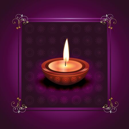 beautiful happy diwali vector design illustration Vector
