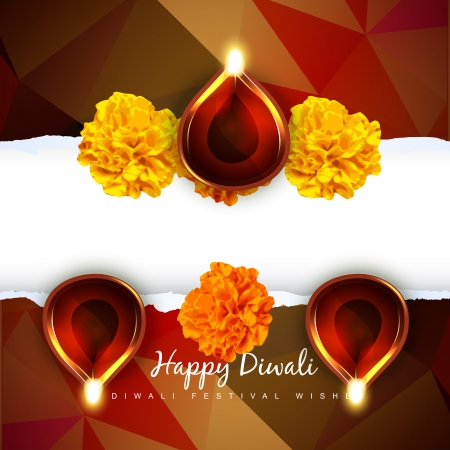happy diwali design with space Vector