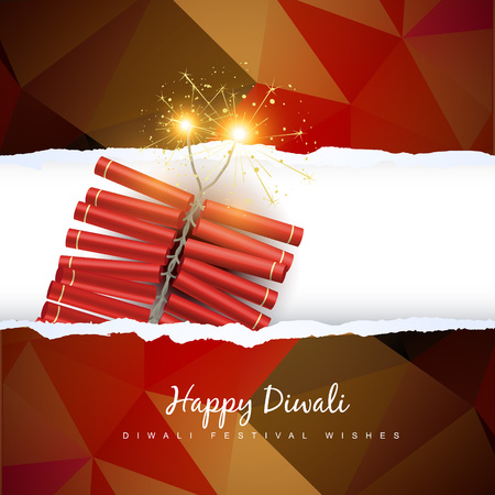 vector diwali crackers  Vector
