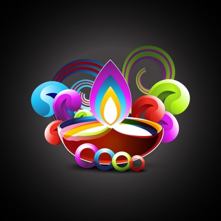 abstract colorful diwali festival design Vector