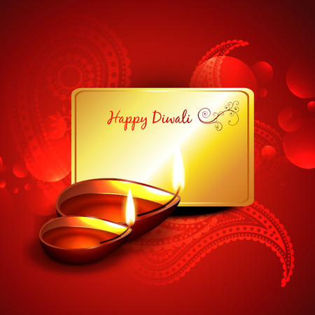 beautiful diwali design  Vector