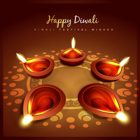 vector beautiful diwali background design Vector