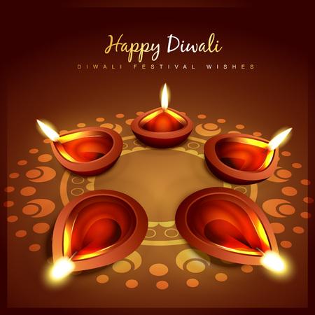 vector beautiful diwali background design Stock Vector - 23064319