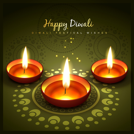 beautiful diwali greeting vector design Vector