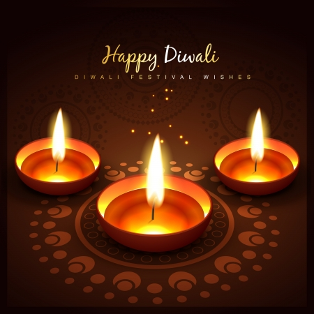 diwali festival vector design background Vector