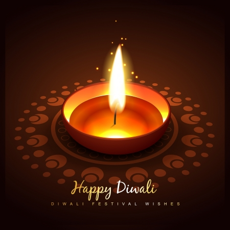 diwali diya design vector illustration Vector