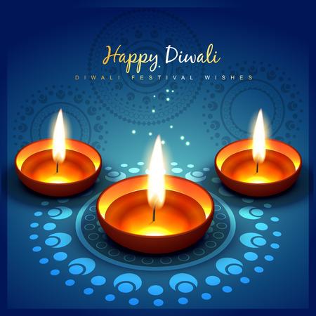 beautiful shiny diwali festival greeting