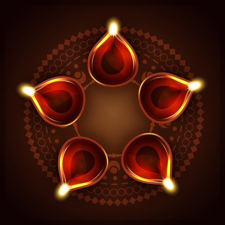 vector diwali diya background design Vector