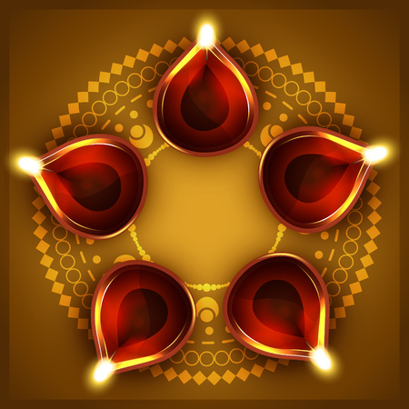 vector diwali festival diya background Stock Vector - 23064325