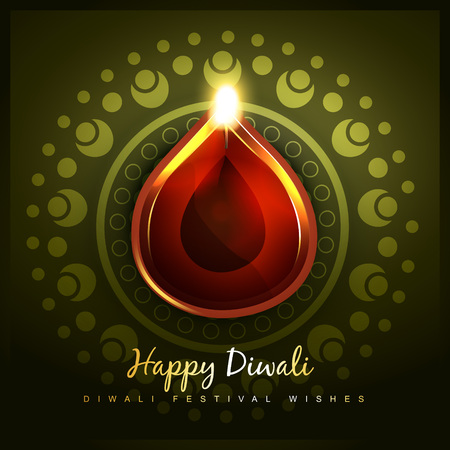 vector hindu festival of diwali Vector