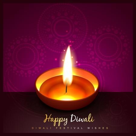 hindu festival of diwali design Illustration