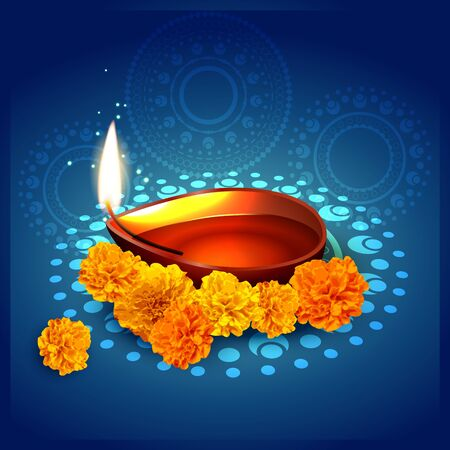 stylish diwali festival background design