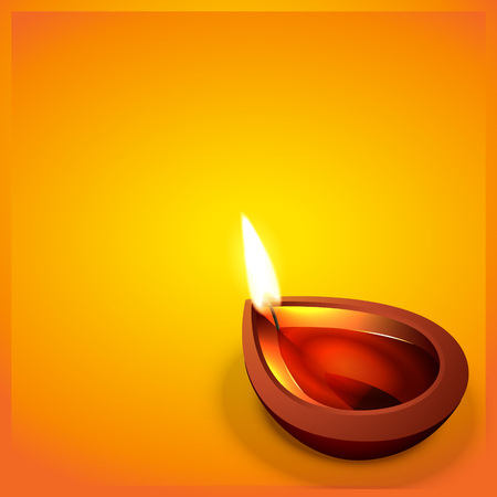 vector diwali festval diya with space for your text Vector