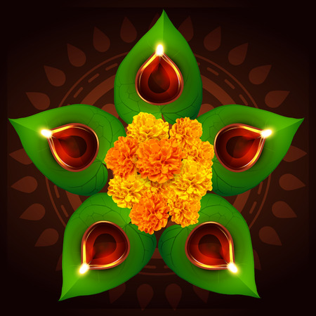vector hindu festival of diwali illustration Stock Vector - 23064401