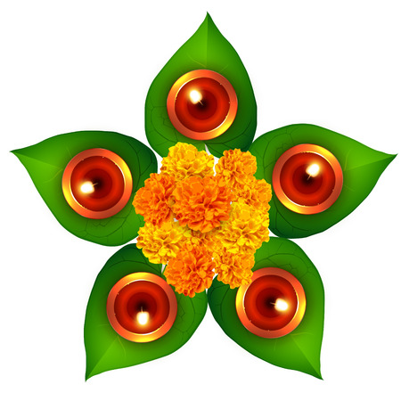 hindu festival of diwali design Vector