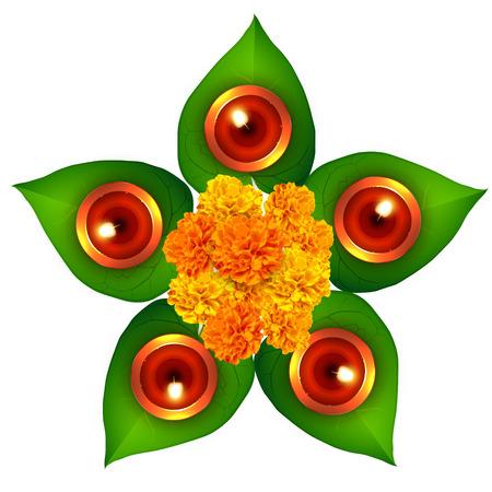 hindu festival of diwali design Stock Vector - 23064403