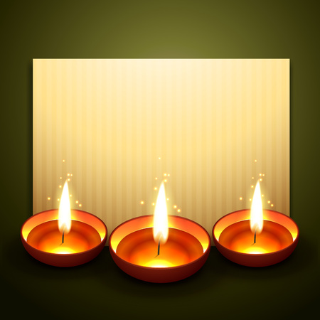 beautiful diwali greeting with space for your text Vector