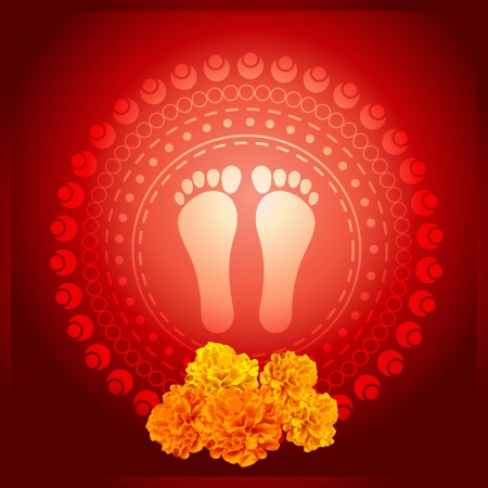 vector foot print of the god illustration Vector