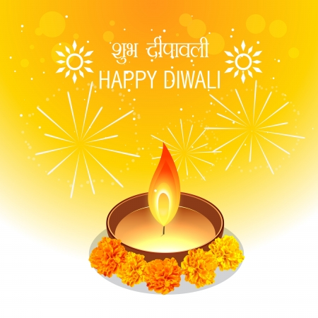 diwali diya design with space for your text Vector