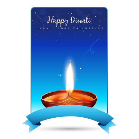 happy diwali vector background illustration Vector