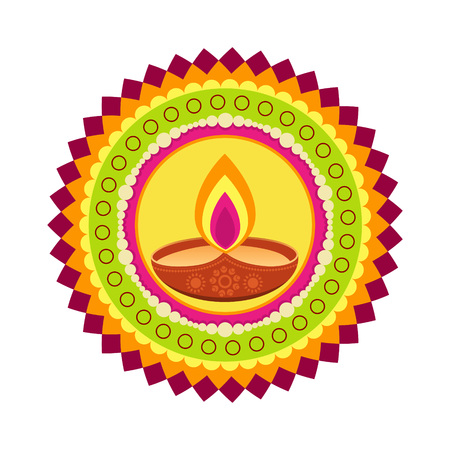 beautiful colorful happy diwali vector background Vector