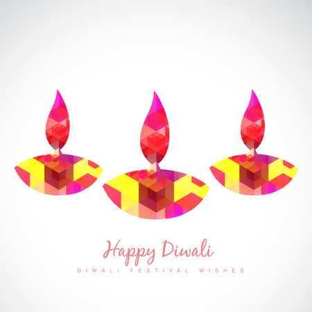 beautiful colorful vector diya illustration Vector