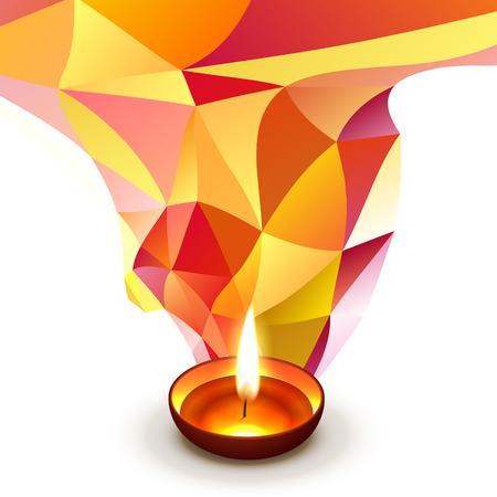 vector diwali groet ontwerp achtergrond