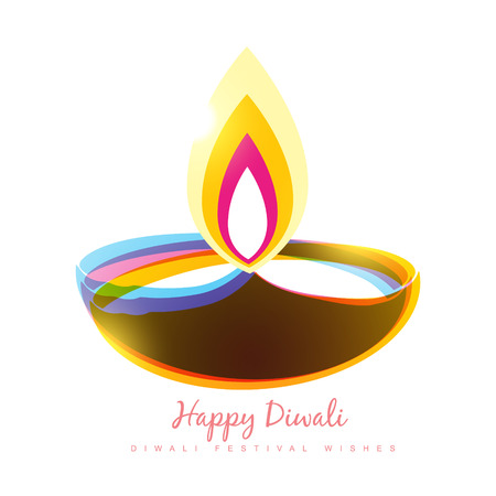 colorful diwali diya seasonal background Vector