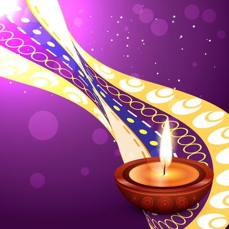 diwali festival vector design background Vector
