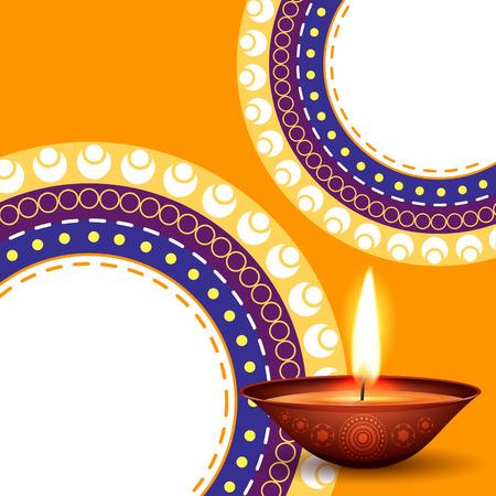 vector kleurrijke diwali achtergrond ontwerp kunst Stock Illustratie