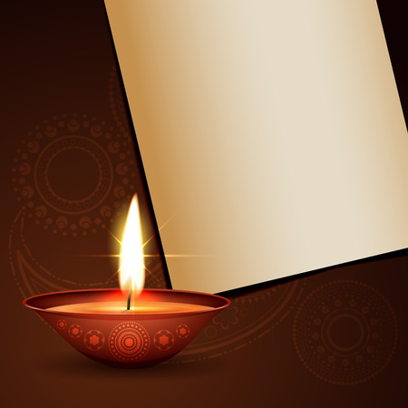 diwali festival greeting with space for your text Vector
